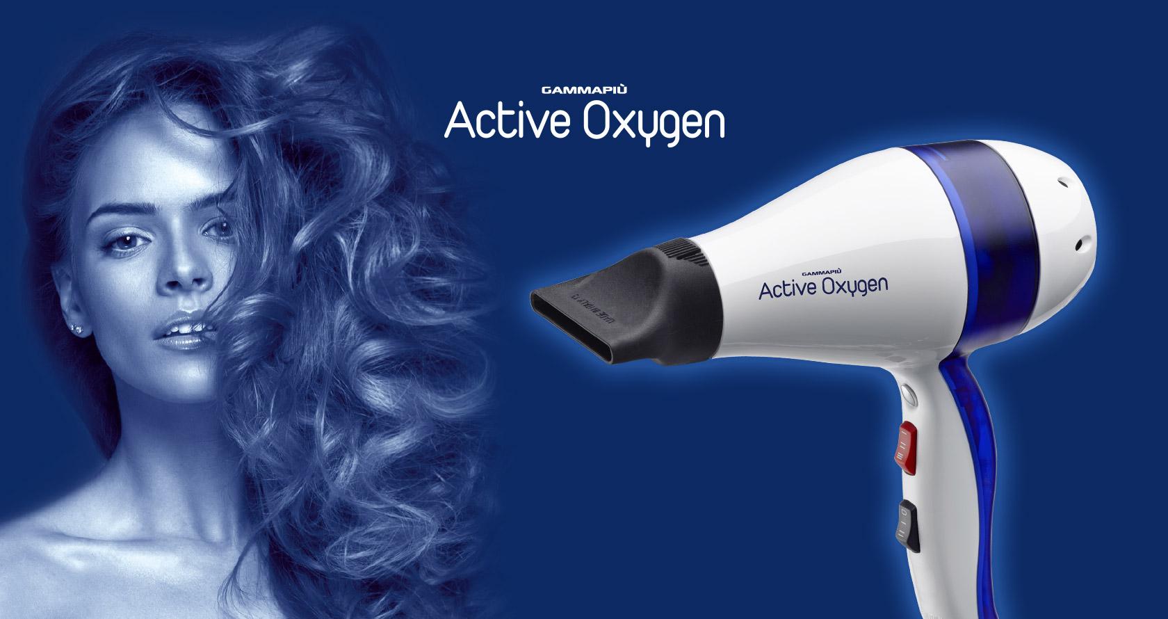 Asciugacapelli professionale all'ossigeno attivo Active Oxygen Made in Italy