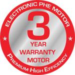 3 Years Warranty Motor