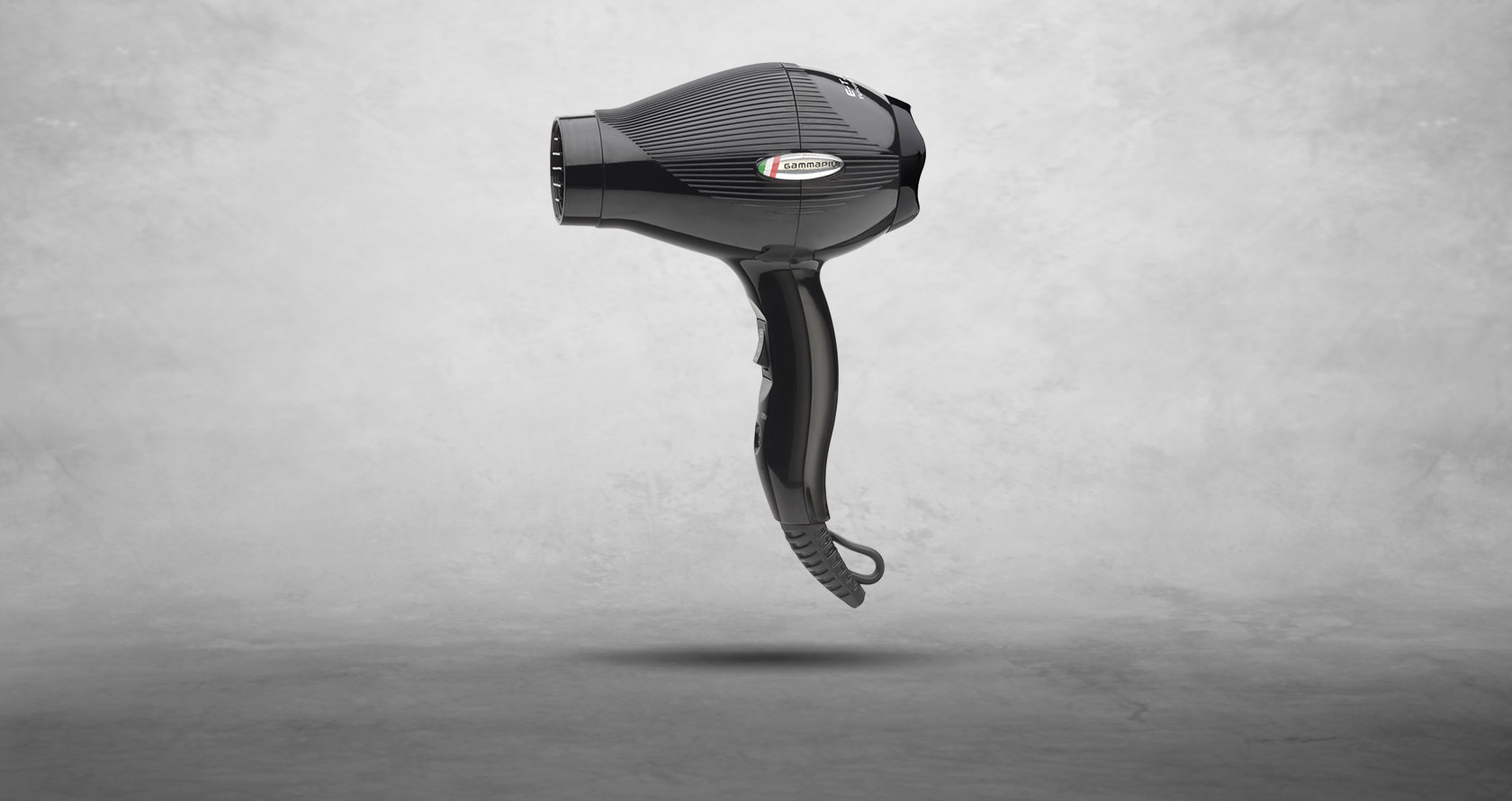 Asciugacapelli professionale da viaggio Gamma Più E-T.C. Mini colore nero lucido