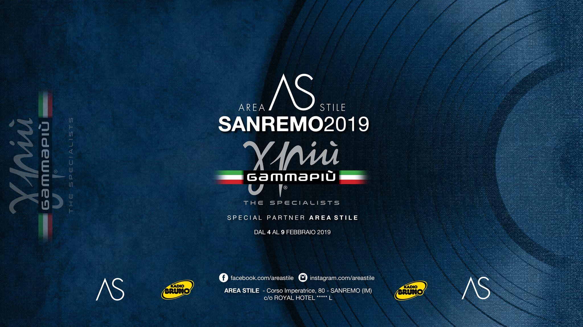 Gamma Più partner tecnico di Area Stile a Sanremo 2019