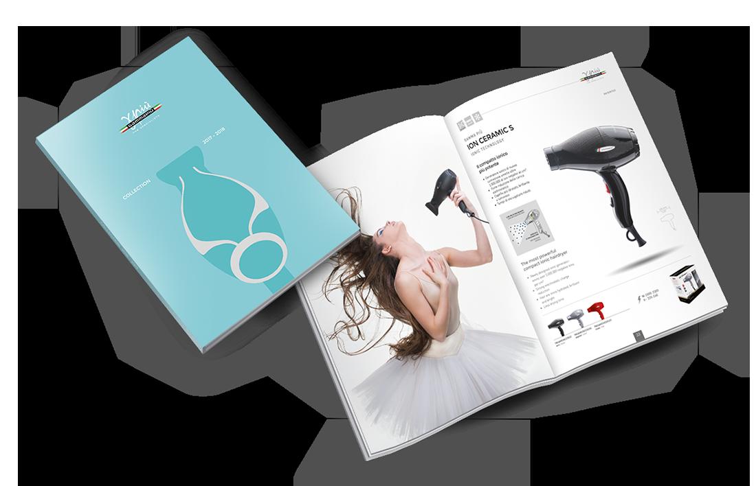 Catalogo 2017-2018 copertina e anteprima pagine interne