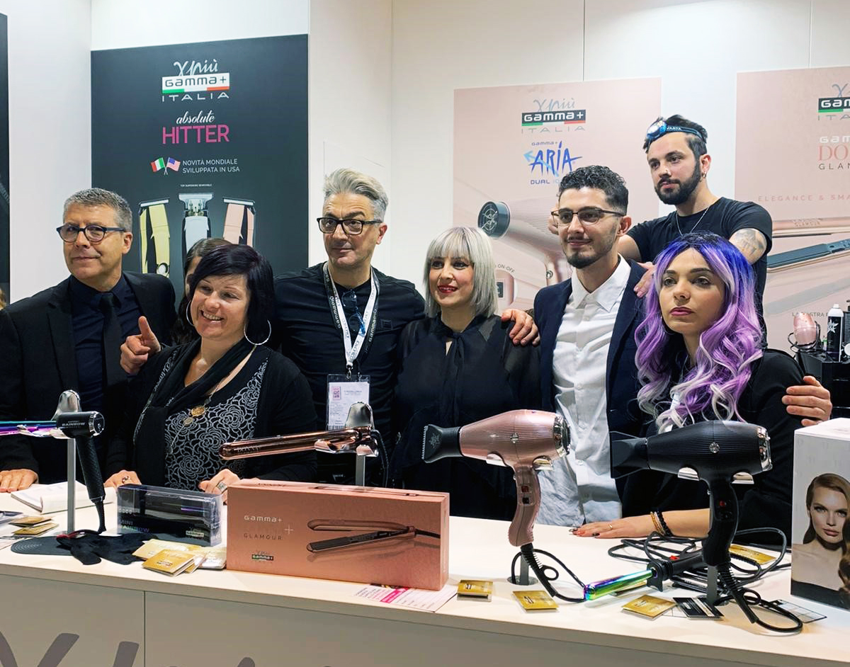 Gamma+ ad On Hair Show by Cosmoprof